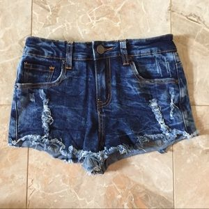 Forever 21 Ripped Denim Shorts size 24